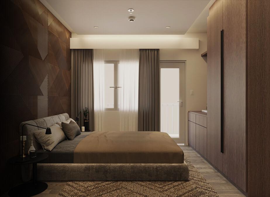 1BRwDen&Balcony- Bedroom