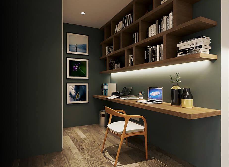 1BRwDen&Balcony- Office