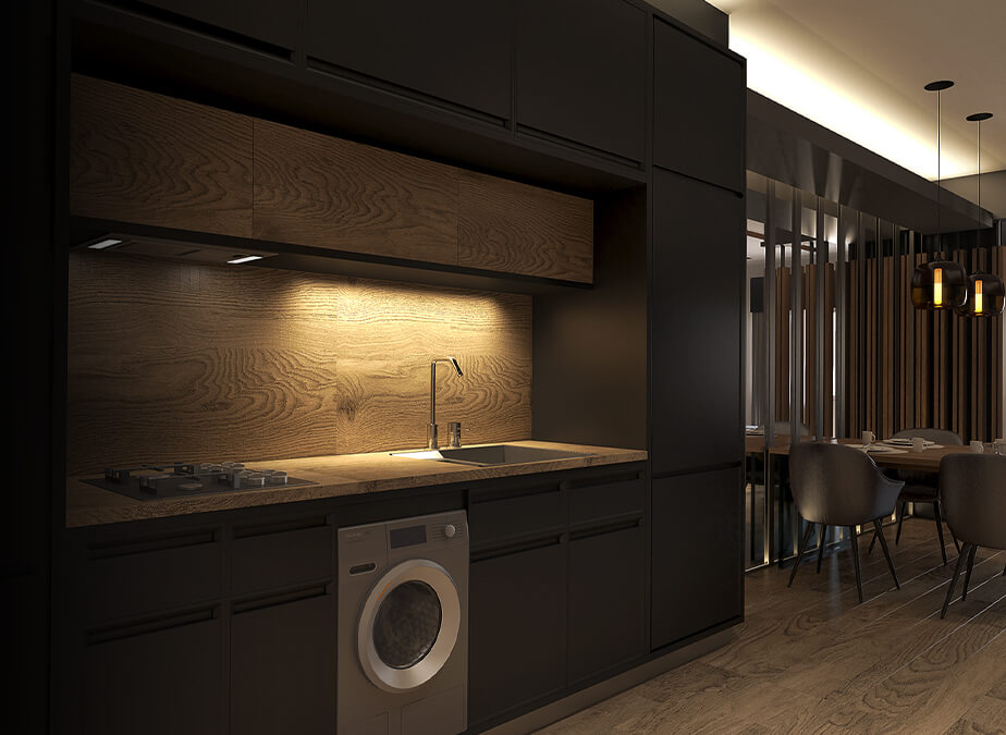 1BR with Balcony - Kitchen - Gold Residences