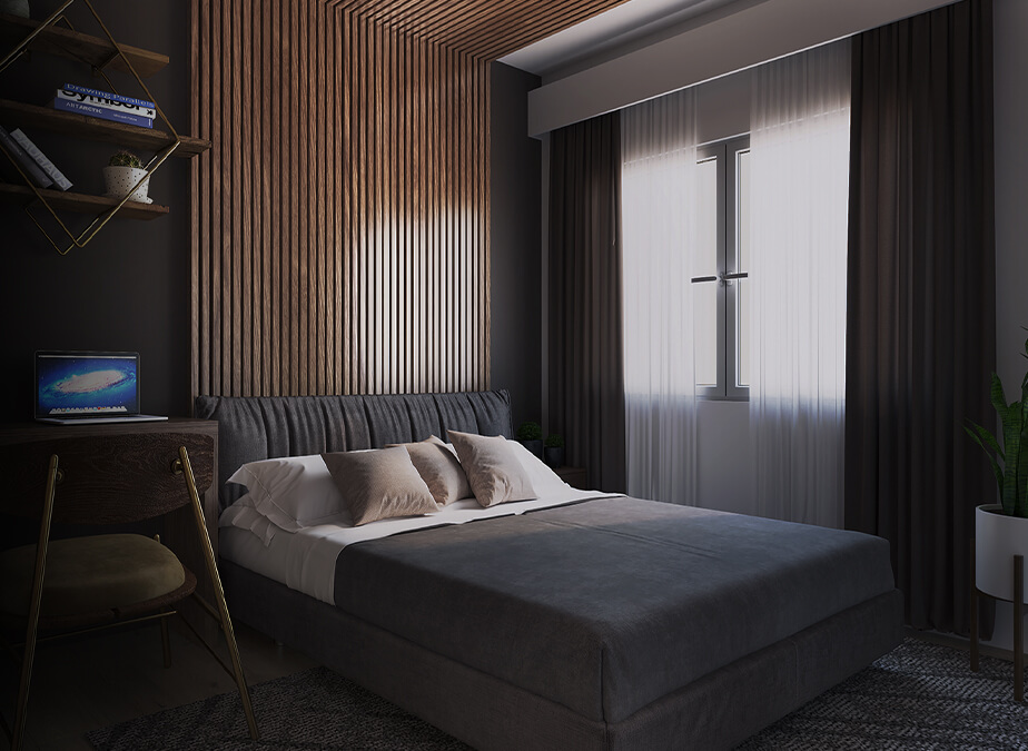 2BR - Bedroom 1 - Gold Residences