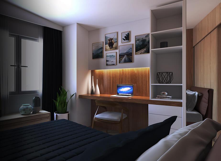 2BR - Bedroom 2 - Gold Residences