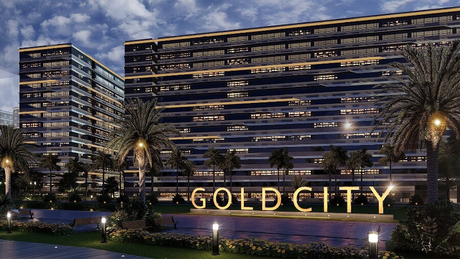 Gold City with Golden luxurious architecture and design