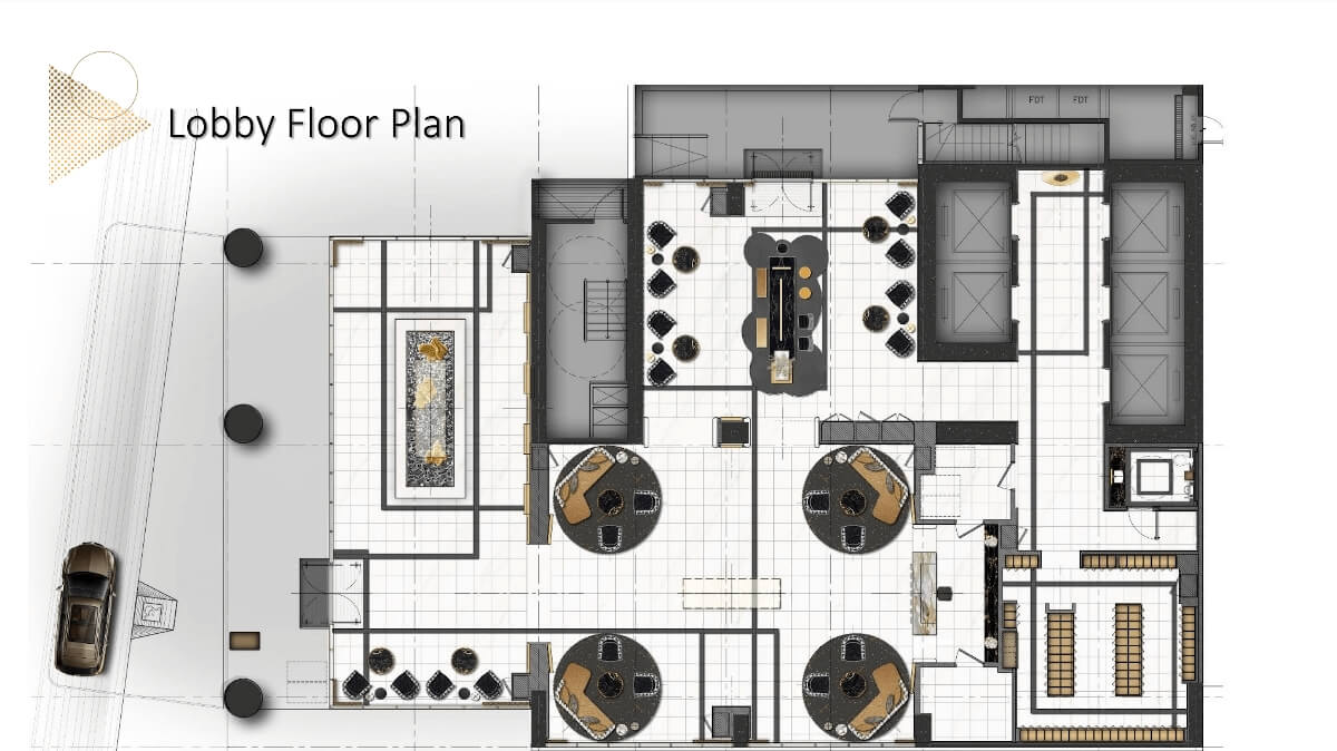 Gold Residences Typical Lobby Floor plan