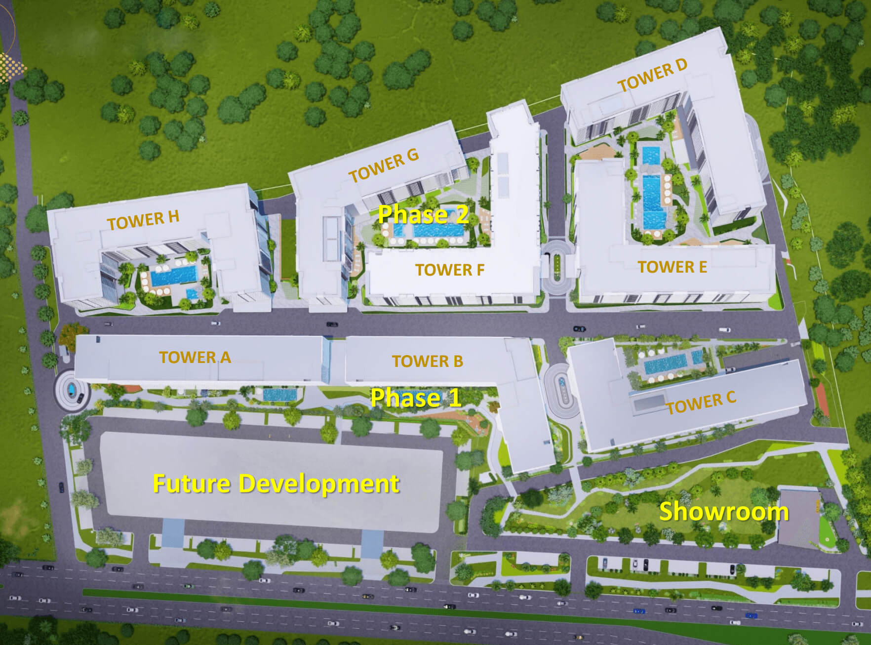 Gold Residences Phase 1 and Phase 2 Floor Plan
